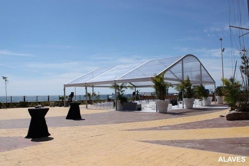 carpa transparente hostelería